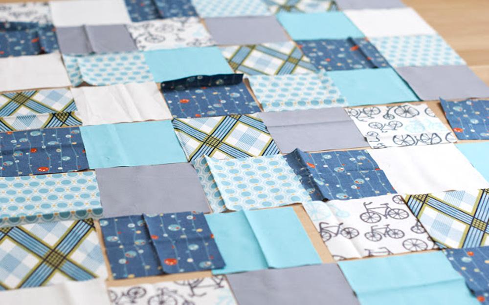 Подбор кусочков ткани