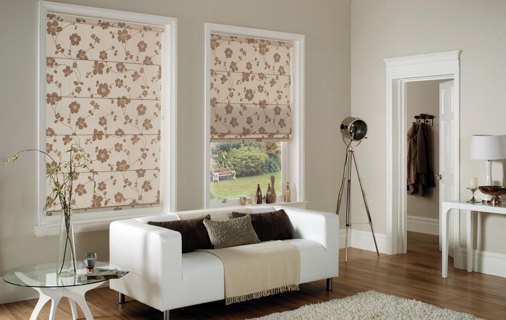 Римские шторы на пластиковые окна фото №9