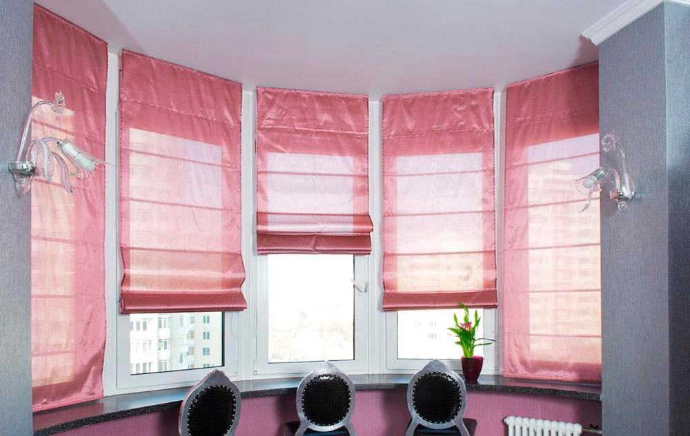 Римские шторы на пластиковые окна фото №1