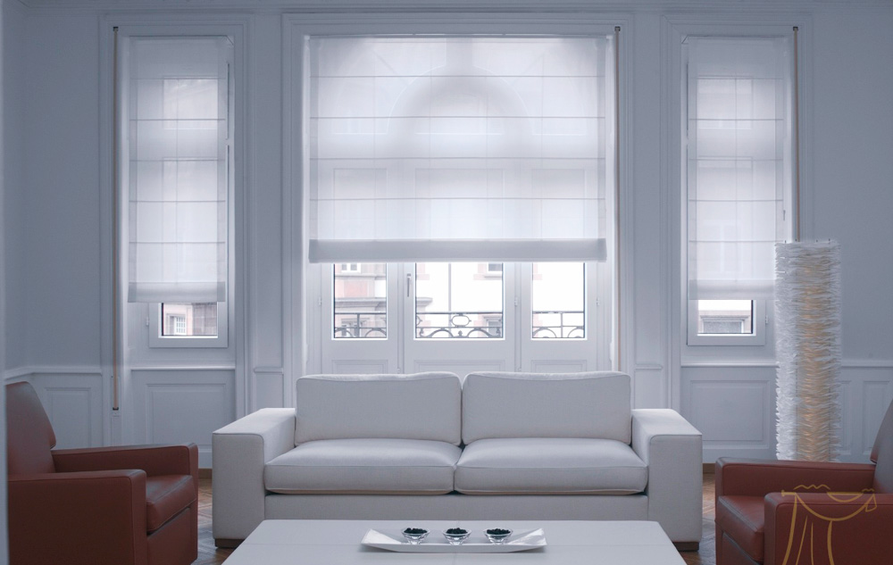 Римские шторы на пластиковые окна фото №5