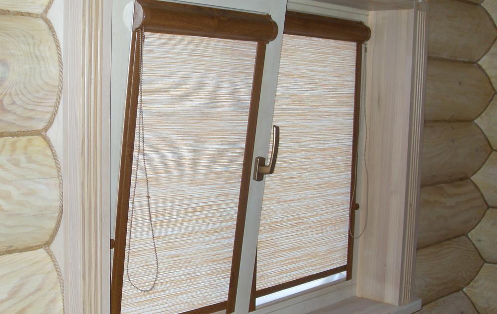 Рулонные шторы на пластиковые окна фото №3