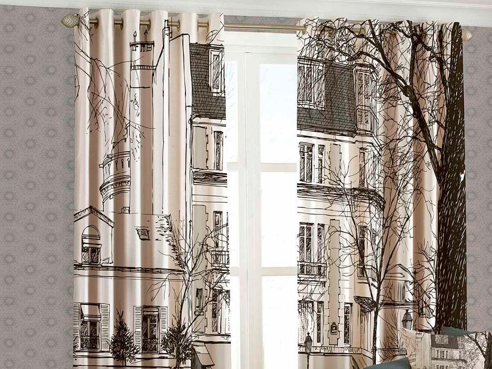 Печатные блэкаут шторы фото 4