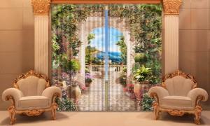 """Фото шторы """"Зимний сад"""" в интерьере"""
