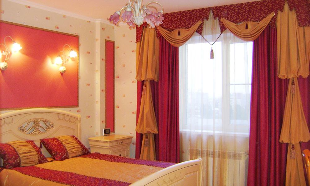 Ламбрекены в спальню - 80 фото новинок модного дизайна 29