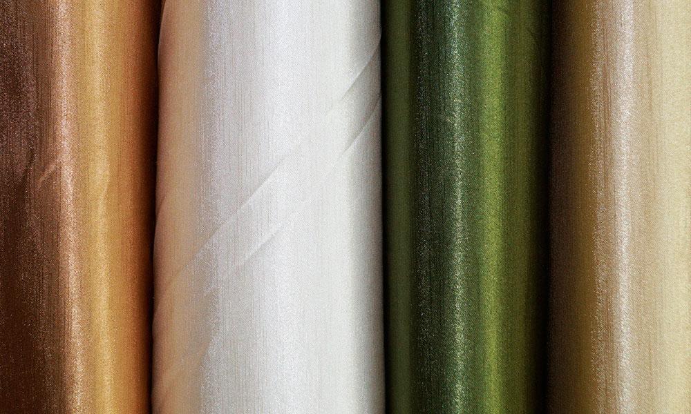 Цветовая гамма ткани портьерной шанзелизе